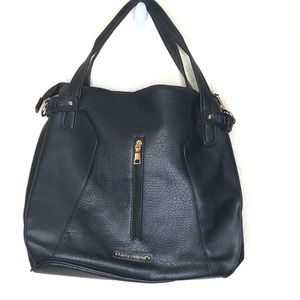 Kathy Ireland Black Vegan Leather Purse Bag